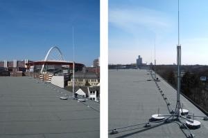 HVI-Blitzschutz auf dem Dach einer Schule in Köln – Beispiel 2