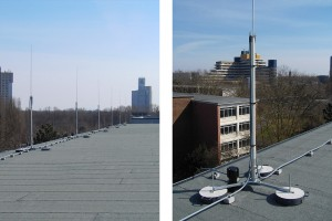 HVI-Blitzschutz auf dem Dach einer Schule in Köln – Beispiel 3